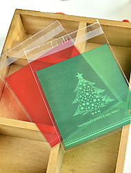 cheap -Christmas Rectangular Plastic Favor Holder with Pattern / Print Favor Bags - 1set