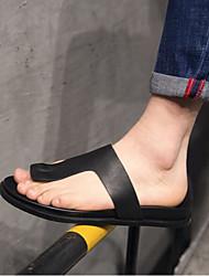 Pánské Obuv Kůže Léto Pohodlné Sandály pro Ležérní Černá
