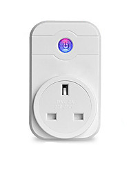 cheap -1pack Smart Plug ABS Plug-in Voice Control APP WiFi-Enabled Control Your Fixture From Anywhere Compatible Device Timing Function