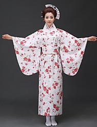 baratos -Fantasias Vestidos Chimono Mulheres Festival / Celebração Trajes da Noite das Bruxas Azul Rosa Vermelho Floral/Botânico Quimonos