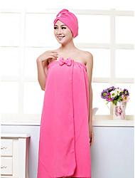 Недорогие -Свежий стиль Банный халат, Однотонный Высшее качество Синтетика Полиэфирная смесь 2pcs