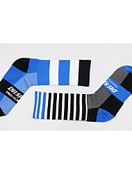 cheap -Sport Socks / Athletic Socks Bike / Cycling Socks Unisex Cycling / Bike Anatomic Design / Breathability / Limits Bacteria 1 Pair Spring, Fall, Winter, Summer Stripe / Letter & Number Nylon / Elastane
