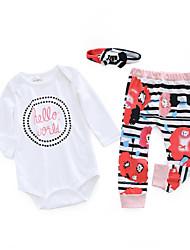 billige -Baby Pige Afslappet Blomstret Langærmet Bomuld Tøjsæt