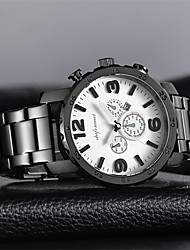 cheap -Men's Casual Watch / Fashion Watch Chinese Calendar / date / day / Large Dial Stainless Steel Band Luxury / Fashion Black / White