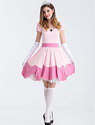 baratos -Princesa Vestidos Fantasias de Cosplay Todos Dia Das Bruxas Baile de Máscaras Festival / Celebração Roupa Rosa Sólido