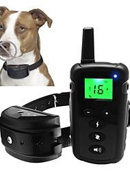 baratos -Cachorros Coleira anti-latido Coleiras de Adestramento para Cães Controles remotos Treinador Tamanho Ajustável Prova-de-Água