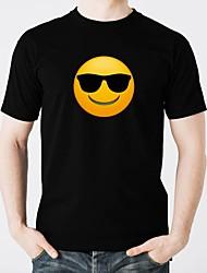 baratos -led camisetas brilho puro algodão levou casual 2 × aa