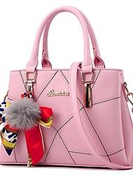 cheap -Women's Bags Polyester / PU(Polyurethane) Shoulder Bag Feathers / Fur Dark Blue / Sky Blue / Wine