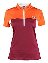 abordables -Femme Tee-shirt de Randonnée Extérieur Séchage rapide Alpinisme Hors piste Fitness Respirabilité Tee-shirt N/C Activités Extérieures