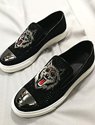cheap -Men's Flocking Winter Comfort Loafers & Slip-Ons Black