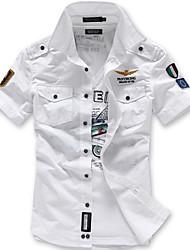 Недорогие -Муж. Рубашка Тонкие Уличный стиль Геометрический принт