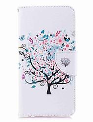 abordables -Coque Pour Huawei Mate 10 lite Mate 10 Porte Carte Portefeuille Avec Support Clapet Motif Coque Intégrale Fleur Arbre Dur faux cuir pour