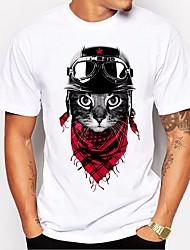 T-shirt de algodão comercial para homens - animal