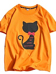 Homens Camiseta Temática Asiática Estampado, Animal