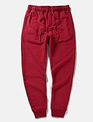 abordables -Hombre Tallas Grandes Chinos Pantalones - Un Color Estampado