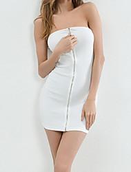 preiswerte -Damen Bodycon Kleid - Rückenfrei, Solide