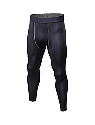 cheap -Men's Running Pants Breathability Tights Exercise & Fitness Polyester White Black Blue Red/White Grey M L XL XXL XXXL