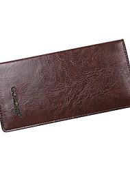 cheap -Men's Bags Polyester / PU(Polyurethane) Wallet Embossed Brown / Dark Brown / Khaki