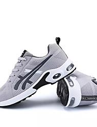 economico -Per uomo Scarpe Maglia traspirante Primavera Autunno Comoda scarpe da ginnastica Corsa per Sportivo Nero Grigio scuro Nero/Rosso