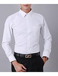 preiswerte -Herrn Solide-Geschäftlich Hemd Schlank