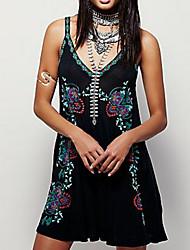 povoljno -Žene Širok kroj Haljina - Print, Cvjetni print