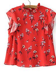 voordelige -Dames Schattig Print T-shirt Bloemen
