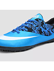 baratos -Homens sapatos Couro Ecológico Primavera Outono Solados com Luzes Tênis Futebol para Atlético Preto Azul Rosa claro
