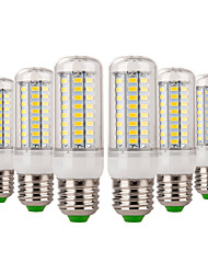 cheap -YWXLIGHT® 6pcs 7W 600-700lm E14 E26 / E27 LED Corn Lights 72 LED Beads SMD 5730 Decorative Warm White Cold White 220-240V