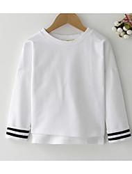 abordables -Pull à capuche & Sweatshirt Fille Quotidien Couleur Pleine Polyester Printemps Manches Longues simple Blanc Rose Claire