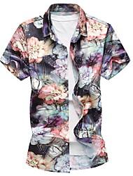 economico -Camicia Per uomo Essenziale Fantasia floreale