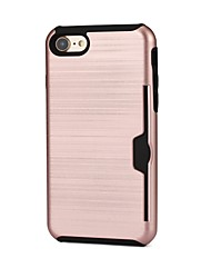 Etui Til Apple iPhone 5 etui iPhone 7 Kortholder Bagcover Helfarve Hårdt Plast for iPhone 6 Plus iPhone 5