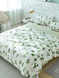 cheap -Duvet Cover Sets Floral Cartoon 3 Piece Poly/Cotton 100% Cotton Reactive Print Poly/Cotton 100% Cotton 1pc Duvet Cover 1pc Sham 1pc Flat