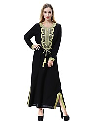 abordables -Femme Grandes Tailles Basique / Bohème Ample Ample Robe Couleur unie Maxi