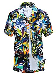 Недорогие -Муж. Большие размеры - Рубашка Панк & Готика Богемный В клетку