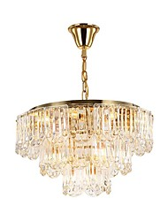cheap -QIHengZhaoMing Chandelier Ambient Light - Crystal Eye Protection, LED Chic & Modern, 110-120V 220-240V Bulb Included
