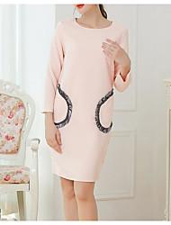 levne -Dámské Bodycon Šaty - Jednobarevné, Plisé