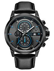 Недорогие -CADISEN Муж. Модные часы Китайский Календарь / Секундомер / Защита от влаги Кожа Группа Мода Черный / Хронометр / Фосфоресцирующий / Sony SR920SW / Два года