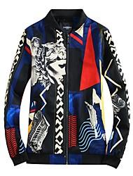 Недорогие -Муж. Куртка Человек Современный стиль С принтом