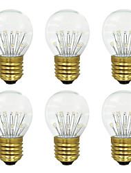 economico -BRELONG® 6pcs 3W 300lm E26 / E27 Lampadine globo LED 17 Perline LED SMD Bianco caldo 220-240V