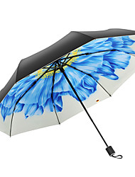 Недорогие -Ткань Жен. Солнечный и дождливой / Ветроустойчивый / новый Складные зонты