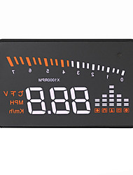 VX5 Head Up Display Alarm Høj temperatur alarm Lavspændingsalarm Hastigheds advarsel Plug and play for Truck Bus Bil Vis KM / h MPH