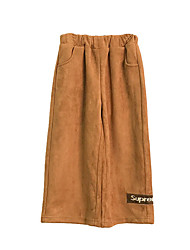 cheap -Girls' Daily Holiday Solid Pants, Polyester Spandex Spring Summer Simple Active Light Brown