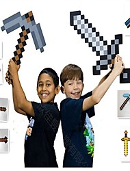 abordables -Minecraft Toys Sword Pick Axe Dessin Animé & Manga simple PEVA Garçon Fille Jouet Cadeau 1 pcs