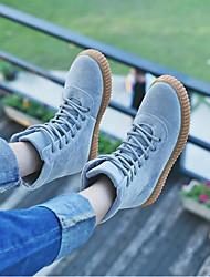baratos -Homens sapatos Couro Ecológico Inverno Outono Curta/Ankle Botas Botas Curtas / Ankle para Ao ar livre Preto Cinzento Amêndoa