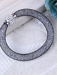 Недорогие -Жен. Браслет цельное кольцо Синтетический алмаз Стразы На каждый день Классический Резина пластик Искусственный бриллиант В форме трубки