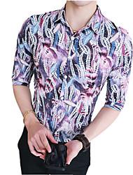 preiswerte -Herrn Blumen-Retro Street Schick Hemd