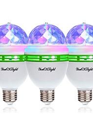 baratos -YouOKLight 3pçs 3W - E26 / E27 Lâmpada Redonda LED 3 Contas LED LED de Alta Potência Decorativa RGB 85-265V