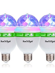 cheap -YouOKLight 3pcs 3W - E26 / E27 LED Globe Bulbs 3 LED Beads High Power LED Decorative RGB 85-265V
