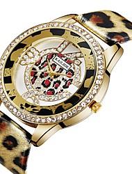 Недорогие -ASJ Жен. Модные часы Повседневные часы Китайский Кварцевый Имитация Алмазный PU Группа На каждый день Мода Серебристый металл Золотистый