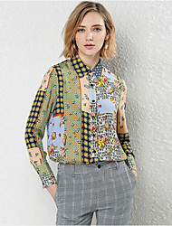 cheap -OTASTE Women's Work Blouse - Geometric Shirt Collar